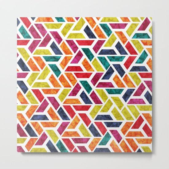 Seamless Colorful Geometric Pattern XII Metal Print