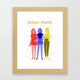 Primary Friends Framed Art Print