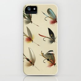 Lake Flies from Favorite Flies and Their Histories by Mary Orvis Marbury. iPhone Case