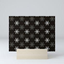 Snowflake Pattern   Winter   Hygge   Scandi   Black and White   Mini Art Print