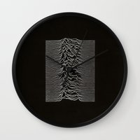 joy division Wall Clocks featuring Joy Division by TheSiro