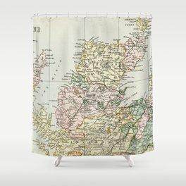 Scotland Vintage Map Shower Curtain