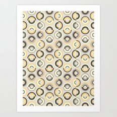 Scandi Circles Art Print