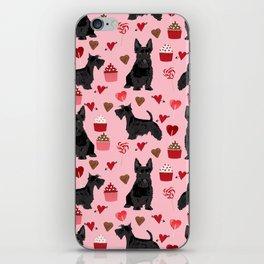 Scottie scottish terrier valentines day dog love pet portrait cute puppy dog valentine iPhone Skin