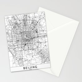 Beijing White Map Stationery Cards