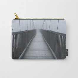 The Swinging Bridge in Fog on a Mountain Carry-All Pouch