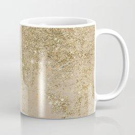 Girly trendy gold glitter ivory marble pattern Coffee Mug