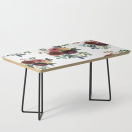 Floral Watercolor Bouquet Pattern Coffee Table
