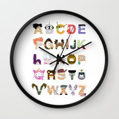 Futuralpha Wall Clock