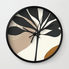 Abstract Art Plant2 Wall Clock