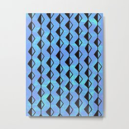 Aqua and Blue Diamond Strings Metal Print
