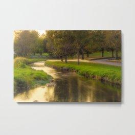 Golden River During the Golden Hour Metal Print