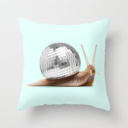 DISCO SNAIL Throw Pillow