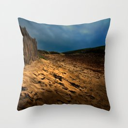 Bantham Beach Exit Throw Pillow