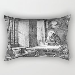Saint Jerome in His Study by Albrecht Dürer Rectangular Pillow