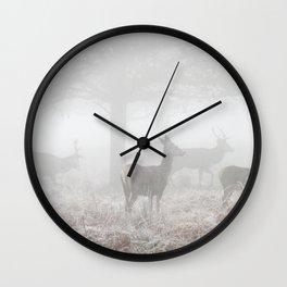 Beautiful morning in Richmond Park Wall Clock