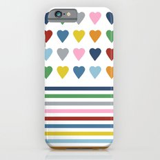 Hearts Stripes iPhone 6s Slim Case