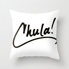 Chula! Throw Pillow