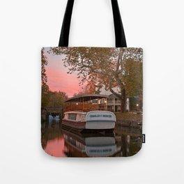 Autumn Twilight Canal Tote Bag