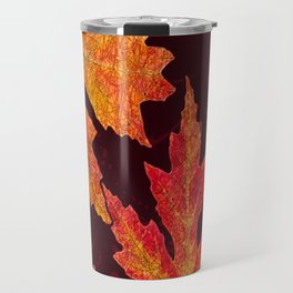 Leaves of Red Gold and Orange a Breath of Fall Travel Mug