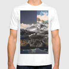 deconstruction White MEDIUM Mens Fitted Tee