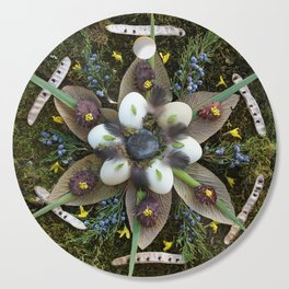 Nature Mandala: March Cutting Board