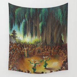Harlem Renaissance African American 'Performance Under the Banyan Tree' by Miguel Covarrubias Wall Tapestry