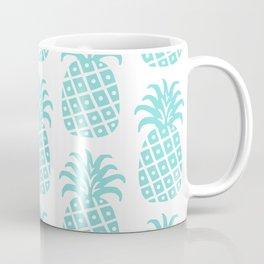 Retro Mid Century Modern Pineapple Pattern 731 Turquoise Coffee Mug
