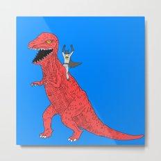Dinosaur B Forever Metal Print