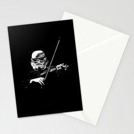 Dark Violinist Warrior Stationery Cards