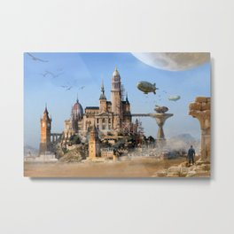 Desert City Metal Print