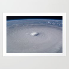Hurricane from space Society6 planet prints Art Print