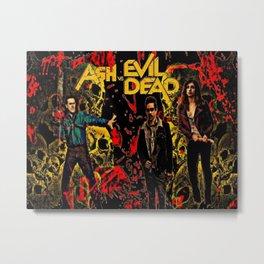 Ash Faces Many Evils Metal Print