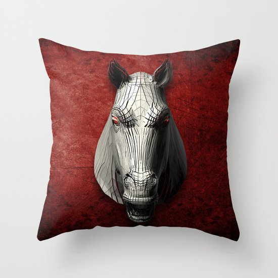 EQVVS (Background option) Throw Pillow by Obvious Warrior Society6