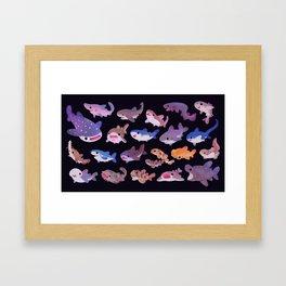 Shark day Framed Art Print
