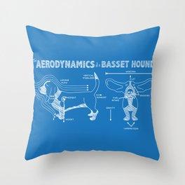 The Aerodynamics of a Basset Hound Throw Pillow