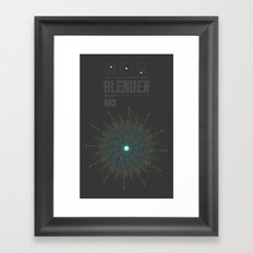 Blender experiment no.3 Framed Art Print