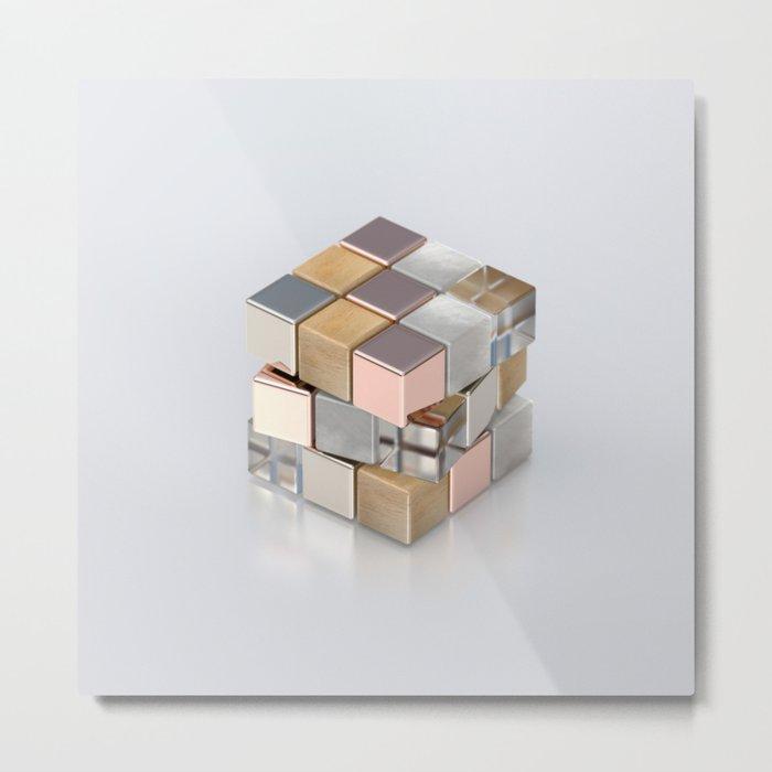 Rubiks Cubed Metal Print