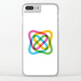 Colorful Swirl Clear iPhone Case