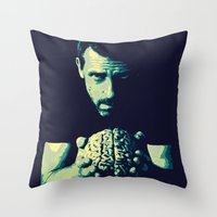 house md Throw Pillows featuring HOUSE MD by Bianca Lopomo