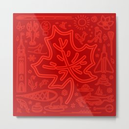 Canadiana Icons - Maple Leaf Metal Print