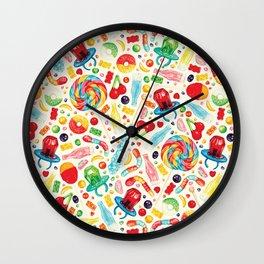 Candy Pattern - White Wall Clock