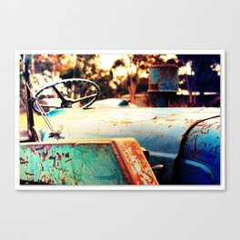 Tractor blue Canvas Print