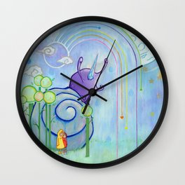 My Friends, Greetings From The Future. It Is Raining Here So Prepare An Umbrella Wall Clock