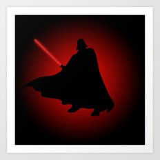 Vader Sithouette Art Print