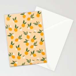 Cute Oranges Stationery Cards