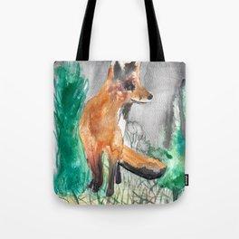 Shitty Fox in Field Tote Bag