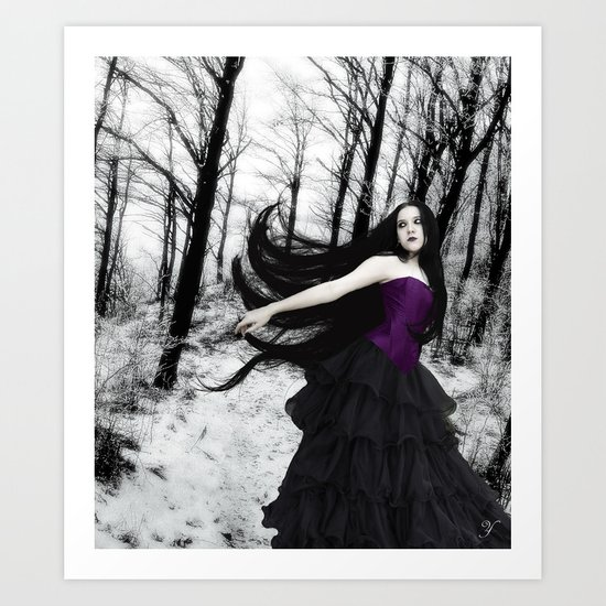 Winter in my heart Art Print