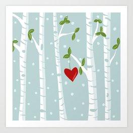 bue birch Art Print