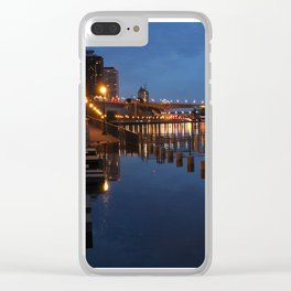 Night CityScape Clear iPhone Case